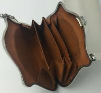 Silver Purse Birmingham 1913 Original Leather Liner, Excellent Condition (4 of 9)