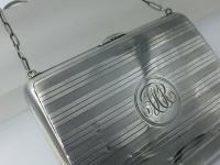 Silver Dance Card Purse with Pencil, Aide Memoire, Stamp & Card Sleeve Birmingham 1912 (8 of 9)