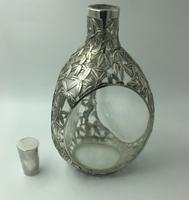 Export Chinese Silver Overlay Decanter Dimple Shape c.1900 (6 of 7)