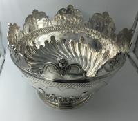 Beautiful Silver Monteith Bowl Punch Bowl Charles Stuart Harris London 1881 (5 of 7)