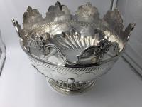 Beautiful Silver Monteith Bowl Punch Bowl Charles Stuart Harris London 1881 (2 of 7)