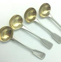 Set 4 Georgian Silver Salt  Spoons John Lias  London 1816 (5 of 5)