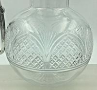 Superb Silver Mounted Cut Glass Claret Jug Walker & Hall Birmingham 1902 (3 of 9)