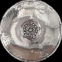 Arts and Crafts Hand Planished Omar RAmsden Dish Tudor Rose Central Roundel 1925