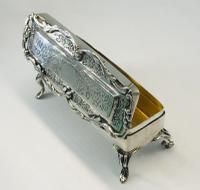 Stunning Antique Solid Silver Ring Box Birmingam 1906
