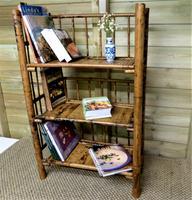 Folding Bamboo Bookshelves - Compact Vintage Bookshelves 1920s (2 of 9)
