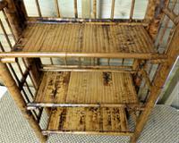 Folding Bamboo Bookshelves - Compact Vintage Bookshelves 1920s (3 of 9)