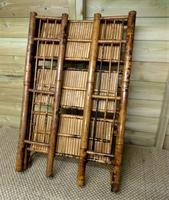 Folding Bamboo Bookshelves - Compact Vintage Bookshelves 1920s (8 of 9)