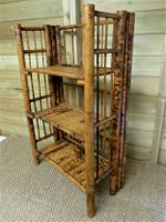 Folding Bamboo Bookshelves - Compact Vintage Bookshelves 1920s (4 of 9)