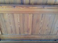 """19th Century French Antique Solid Pitch Pine 4'6"""" 140 Cm Rustic Rural Standard Double Bed (5 of 7)"""