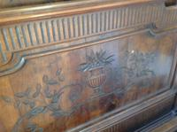 19th Century French Napoleonic Antique Solid  Walnut Chateau Bed ,Armorial King Size Double Bed (5 of 9)