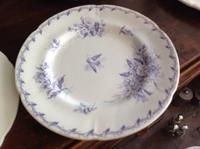 10 Piece Antique 19th Century French Gien Pottery Purple Transfer Printed Dinner Plates Each Piece Stamped (7 of 8)