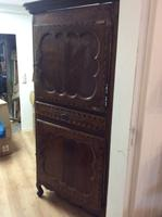 18th Century French Cherry Wood & Inlaid Cabinet Sagurrimes Cabinet Armoire Buffer (9 of 10)
