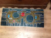 1960s  French Volcanic Tile Coffee Table On Chrome and Teak Supports (2 of 2)