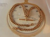 Antique Pocket Watch Chain 1890s Victorian 10ct Rose Gold Filled Large Albert with T Bar 50.9 Grams (3 of 12)