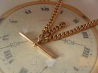 Antique Pocket Watch Chain 1890s Victorian 10ct Rose Gold Filled Large Albert with T Bar 50.9 Grams (7 of 12)