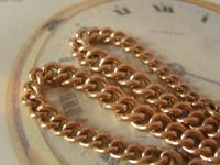Antique Pocket Watch Chain 1890s Victorian 10ct Rose Gold Filled Large Albert with T Bar 50.9 Grams (5 of 12)