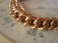Antique Pocket Watch Chain 1890s Victorian 10ct Rose Gold Filled Large Albert with T Bar 50.9 Grams (6 of 12)