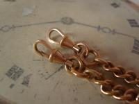 Antique Pocket Watch Chain 1890s Victorian 10ct Rose Gold Filled Large Albert with T Bar 50.9 Grams (10 of 12)