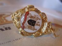 Vintage Pocket Watch Chain Fob 1950s 12ct Gold Plated Victoria Australia Fob
