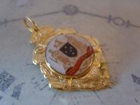 Vintage Pocket Watch Chain Fob 1950s 12ct Gold Plated Victoria Australia Fob (3 of 8)