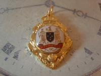 Vintage Pocket Watch Chain Fob 1950s 12ct Gold Plated Victoria Australia Fob (5 of 8)