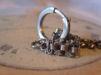 Antique Pocket Watch Chain 1890s Victorian Silver Nickel Vertebrae Link Albert (9 of 11)