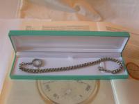 Antique Pocket Watch Chain 1890s Victorian Silver Nickel Vertebrae Link Albert (11 of 11)