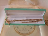 Antique Pocket Watch Chain 1890s Victorian 12ct Rose Gold Filled Large Albert with Key T Bar (12 of 12)