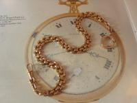 Antique Pocket Watch Chain 1890s Victorian Large 12ct Rose Gold Filled Albert (4 of 12)