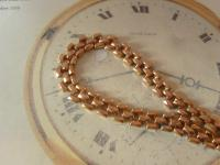 Antique Pocket Watch Chain 1890s Victorian Large 12ct Rose Gold Filled Albert (5 of 12)