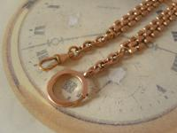 Antique Pocket Watch Chain 1890s Victorian Large 12ct Rose Gold Filled Albert (8 of 12)