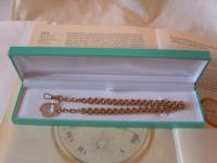 Antique Pocket Watch Chain 1890s Victorian Large 12ct Rose Gold Filled Albert (12 of 12)