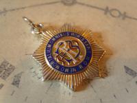 Vintage Silver Freemasons Pocket Watch Chain Fob 1950 Royal Order of Buffaloes (3 of 7)