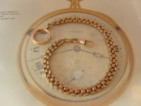 Antique Pocket Watch Chain 1890s Victorian French 14ct Rose Gold Filled Albert (2 of 11)