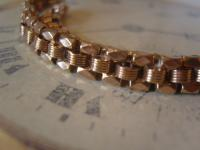 Antique Pocket Watch Chain 1890s Victorian French 14ct Rose Gold Filled Albert (7 of 11)