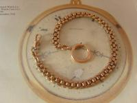 Antique Pocket Watch Chain 1890s Victorian French 14ct Rose Gold Filled Albert (4 of 11)