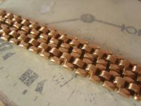 Antique Pocket Watch Chain 1890s Victorian French 14ct Rose Gold Filled Albert (6 of 11)