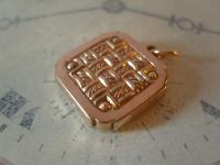 Antique Pocket Watch Chain Fob 1890s Victorian 10ct Rose Gold Filled Fancy Fob (3 of 10)