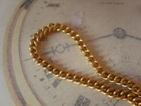 Vintage Pocket Watch Chain 1960s 10ct Gold Plated Curb Link Albert with T Bar (6 of 9)