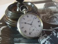 Antique Pocket Watch 1919 Victory Lever Swiss 7 Jewel Silver Nickel Case Fwo (2 of 11)