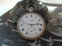 Antique Pocket Watch 1919 Victory Lever Swiss 7 Jewel Silver Nickel Case Fwo (4 of 11)
