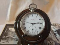 Antique Pocket Watch 1919 Victory Lever Swiss 7 Jewel Silver Nickel Case Fwo (3 of 11)