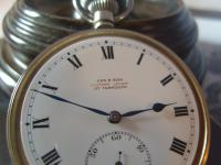 Antique Pocket Watch 1919 Victory Lever Swiss 7 Jewel Silver Nickel Case Fwo (5 of 11)