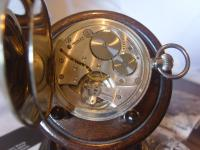 Antique Pocket Watch 1919 Victory Lever Swiss 7 Jewel Silver Nickel Case Fwo (10 of 11)