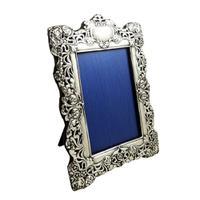 Antique Art Nouveau Sterling Silver Photo Frame