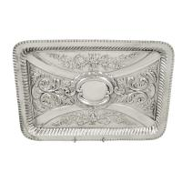 Antique Edwardian Sterling Silver Dressing Tray 1902