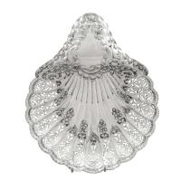 """Antique Edwardian Sterling Silver 8"""" Shell Dish 1903"""