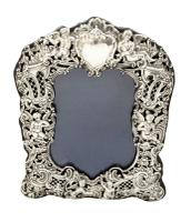 """Antique Victorian Sterling Silver 8 1/2"""" Photo Frame 1894 (8 of 11)"""