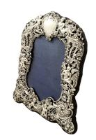 """Antique Victorian Sterling Silver 8 1/2"""" Photo Frame 1894 (11 of 11)"""